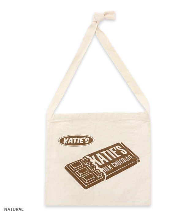 KATIE MADE CHOCOLATE shoulder tote