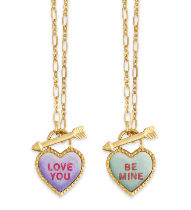 SWEET HEART heart candy necklace