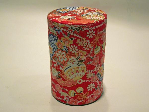 和紙茶缶茶筒100g118