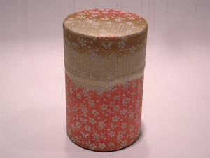 和紙茶缶茶筒100g⑳