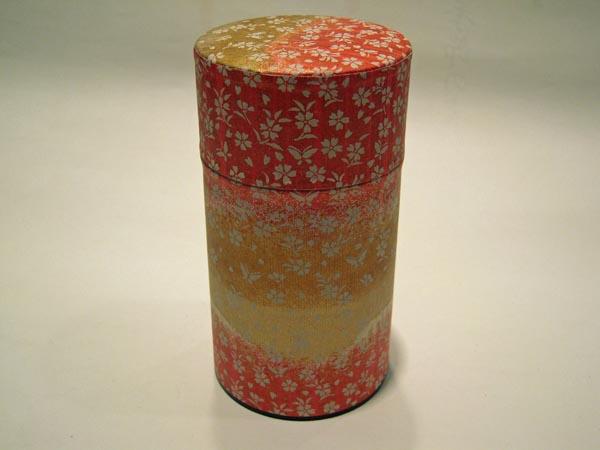 和紙茶缶茶筒150g120