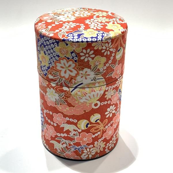 【和紙茶缶100g】118