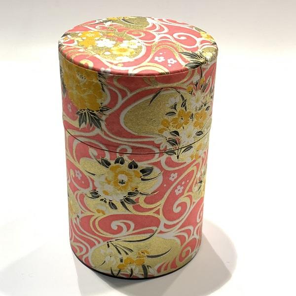 【和紙茶缶100g】186