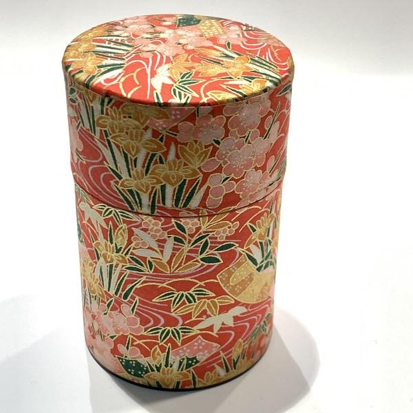 【和紙茶缶100g】214