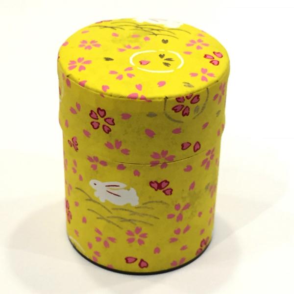 【和紙茶缶50g】24