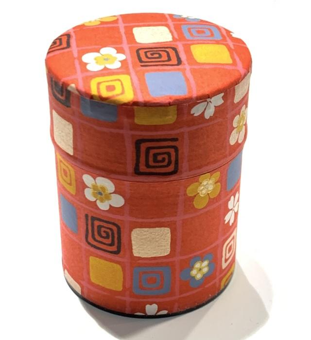 【和紙茶缶50g】13