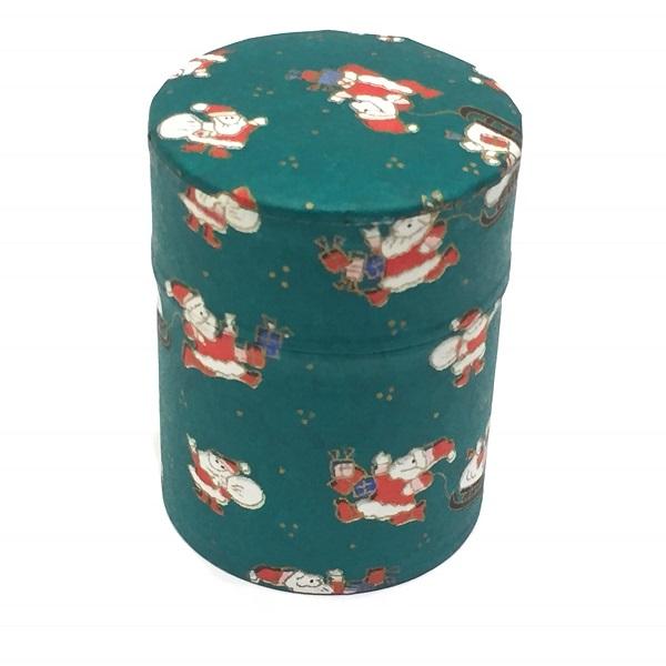 【和紙茶缶50g】クリスマス緑