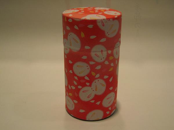 和紙茶缶茶筒150g93