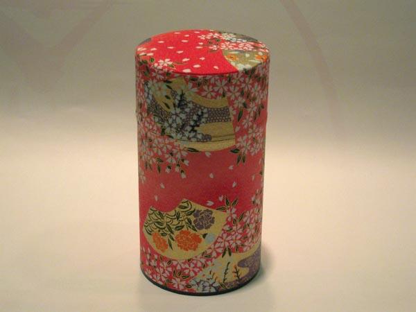 和紙茶缶和風茶筒53