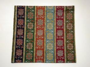 龍村美術織物唐花雙鳥長斑錦古帛紗小帛紗