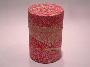 和紙茶缶茶筒100g⑰