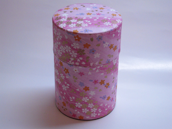 和紙茶缶茶筒100g③