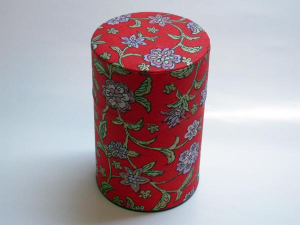 和紙茶缶茶筒100g④