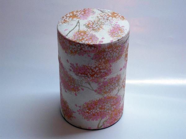 和紙茶缶茶筒100g⑤