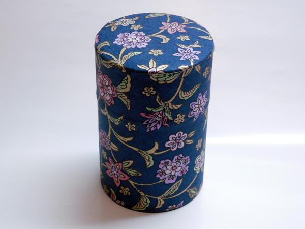 和紙茶缶茶筒100g⑪