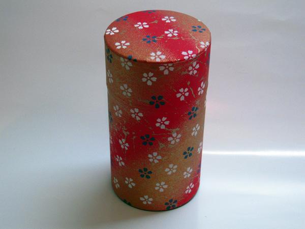 和紙茶缶茶筒150g⑬