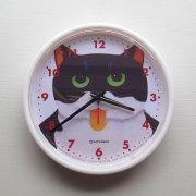 【猫柄】カツミアート(松下カツミ)掛け時計:ニッキー