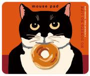 猫柄マウスパッド:ニッキードーナツ