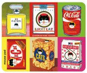 猫柄マウスパッド:パッケージパロディー