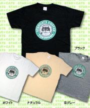 松下カツミ猫柄T-シャツ:スタキャラベル