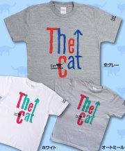 【猫柄】カツミアート(松下カツミ)T-シャツ:『THE CAT』(Bタイプ)