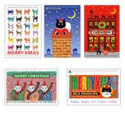 猫柄クリスマスカード-5