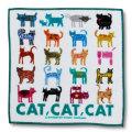 猫柄タオルハンカチ:CAT! CAT! CAT!-A