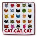 猫柄タオルハンカチ:CAT! CAT! CAT!-B