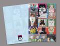 【猫柄】カツミアート(松下カツミ)クリアファイルA4