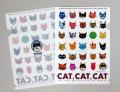 【猫柄】カツミアート(松下カツミ)クリアファイルA5(小)サイズ:CAT!CAT!CAT!-B