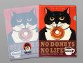 【猫柄】カツミアート(松下カツミ)クリアファイルA5(小)サイズ:ニッキードーナツ