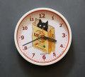 【猫柄】カツミアート(松下カツミ)掛け時計:ショッピングバッグ