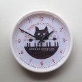 【猫柄】カツミアート(松下カツミ)掛け時計:ピアノ