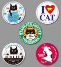 カツミアートオリジナル猫柄コースター:5枚入りセット