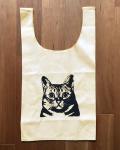 【猫柄】カツミアート(松下カツミ)お買い物エコバッグ:アンディ