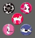 カツミアート猫柄缶バッチ:アソート-A