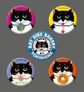 カツミアート猫柄缶バッチ:ニッキー-B