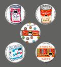 【猫柄】カツミアート(松下カツミ)缶バッチ:ニッキー-B(5個入り)