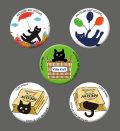 カツミアート猫柄缶バッチ:クロックムッシュ-C