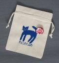 【猫柄】カツミアート(松下カツミ)猫柄きんちゃく袋:BLUE CAT
