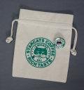 【猫柄】カツミアート(松下カツミ)猫柄きんちゃく袋:スタキャラベル