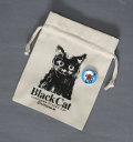 【猫柄】カツミアート(松下カツミ)猫柄きんちゃく袋:WANTED