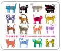 猫柄マウスパッド:CAT.CAT.CAT