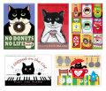 【猫柄】カツミアート(松下カツミ)ポストカード-8
