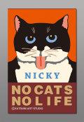 カツミアートオリジナル猫柄ポチ袋:ニッキー(3枚入り)
