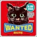 【猫柄】カツミアート(松下カツミ)猫柄シール:WANTED