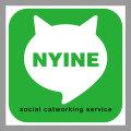 【猫柄】カツミアート(松下カツミ)猫柄シール:NYINE