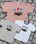 【猫柄】カツミアート(松下カツミ)T-シャツ:猫風船2
