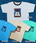 【猫柄】カツミアート(松下カツミ)T-シャツ:コーヒータイム