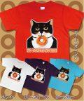 【猫柄】カツミアート(松下カツミ)T-シャツ:ニッキードーナツ